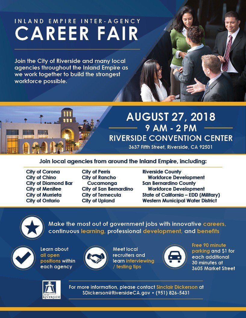 eb7df724 Learn what public agency jobs are available in our region (15 public  agencies will be represented). #ILoveRiverside  #RiversideJobspic.twitter.com/NiD70CGpTn