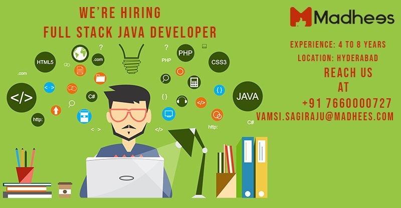 If you are into hashtag#Product hashtag#Development team and have built an awesome cloud-based product (s). then we have a job for the hashtag#Full hashtag#Stack hashtag#Developer who has experience using best practices and methodologies.   https://www. facebook.com/pg/madhees/job s/259749634633938/?source=post_homepage_stream &nbsp; … <br>http://pic.twitter.com/a1IwAsHqC9