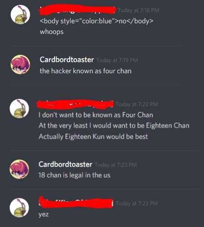 the hacker known as 'Eighteen Chan'
