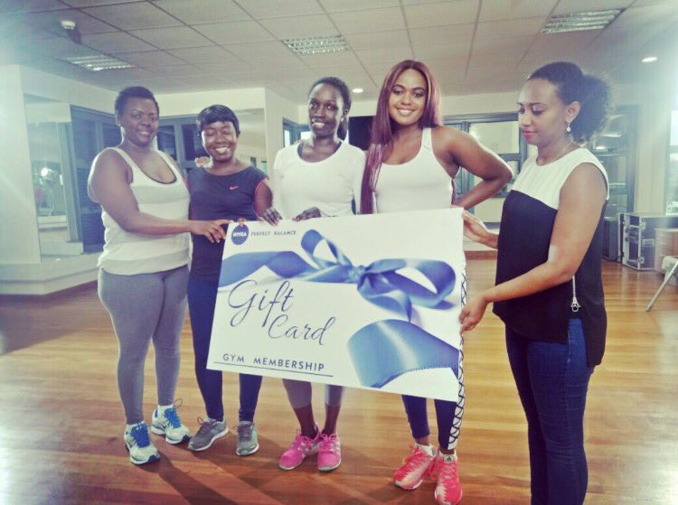 My queens going strong at the gym after winning my challenge. Thank you #NiveaEastAfrica helping mums get their #PerfectBalance back! <br>http://pic.twitter.com/KkLz4GvmIZ