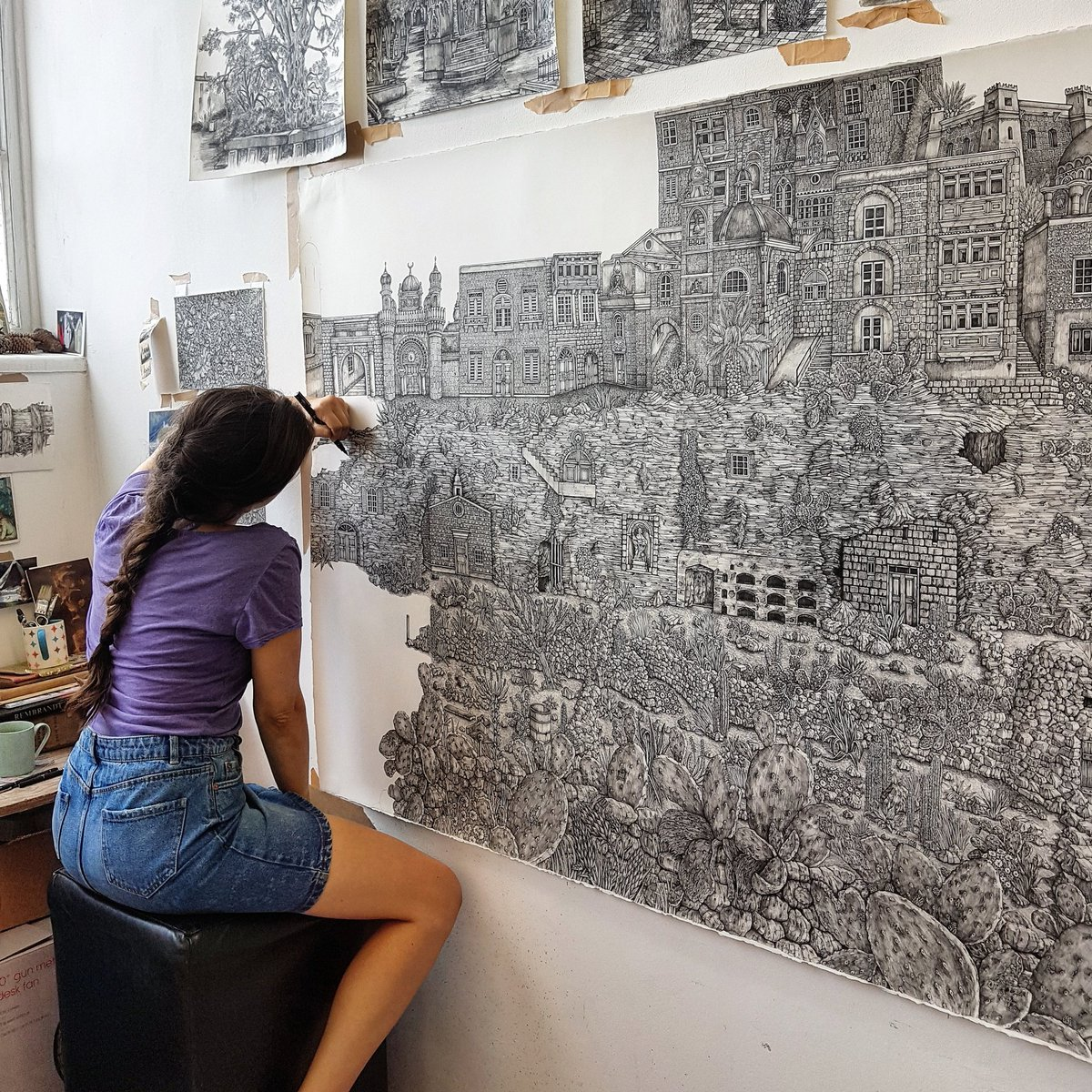 This artist does the most detailed pen drawings you've ever seen