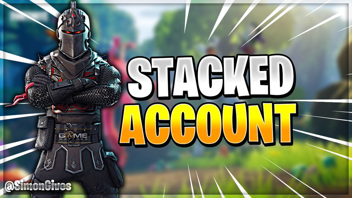 fortnite giveaway stacked black knight account inactive retweet - discount code for fortnite gg