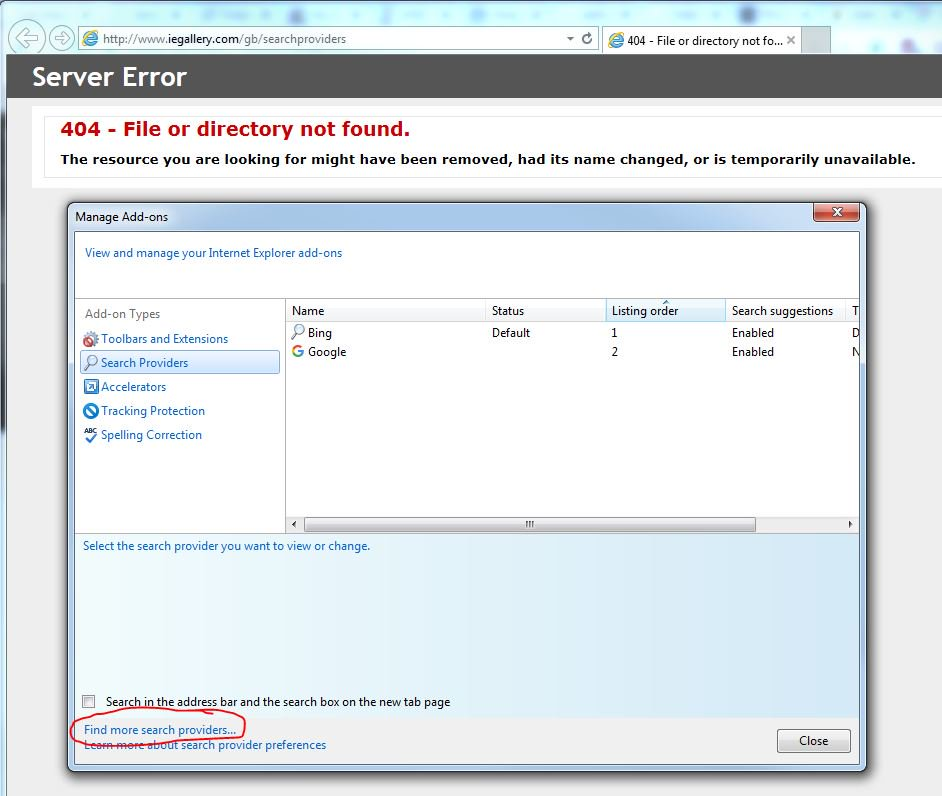 @MicrosoftHelps @Microsoft The link to Internet Explorer Gallery for IE11 is dead. You need to set a re-direct to microsoft.com/en-us/iegallery