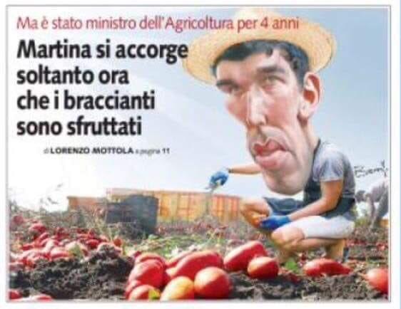 Quando sei stato #Ministro dell'#Agricoltura per quattro anni e ti accorgi solo adesso che in #Italia i braccianti sono sfruttati. #Martina #PD #SolounCattivoRicordo... #noCap  - Ukustom