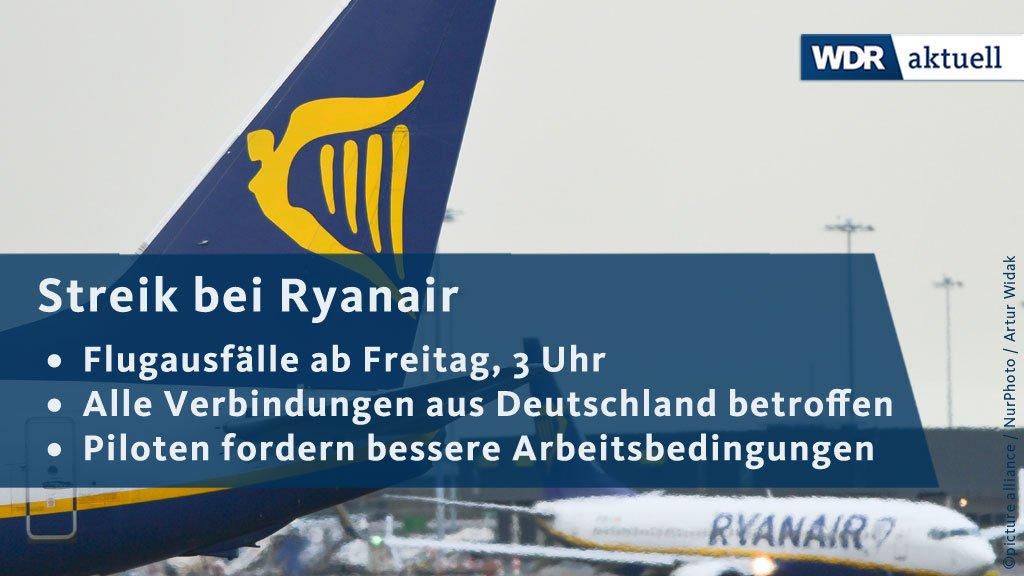Mitten in der Ferienzeit werden die Piloten von #Ryanair streiken. Sie wollen am Freitag für 24 Stunden ihre Arbeit niederlegen, genau wie ihre Kollegen in anderen europäischen Ländern. https://t.co/955cqgSS9p