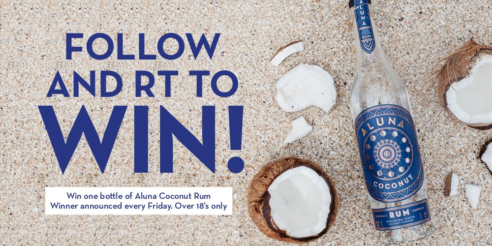 Do you like rum? Do you like coconuts? Then pay attention!  Simply follow and RT for your chance to #win a bottle of our #AlunaCoconut rum. Easy! #winitwednesday <br>http://pic.twitter.com/dinbS6rjYz
