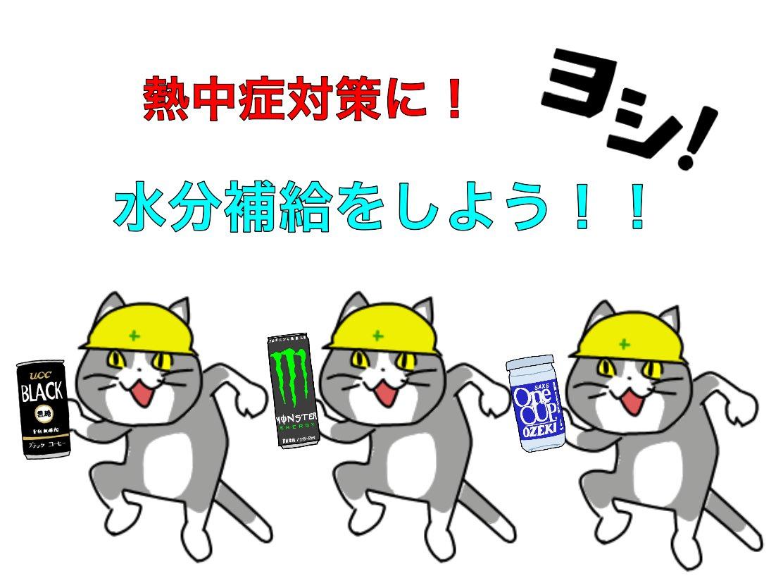 現場猫の注意喚起ポスター作った #現場猫
