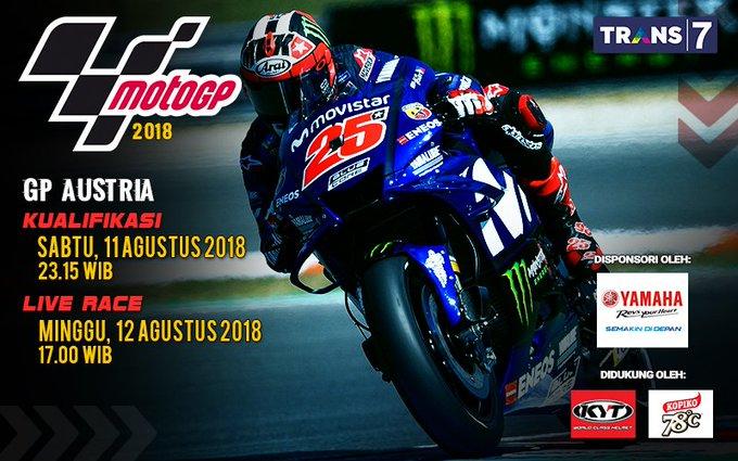 Deru mesin MotoGP pekan ini akan tertuju pada The Red Bull Ring Circuit, Austria, dan pastikan Sobat7 mencatat jam tayangnya. #AustrianGP Photo