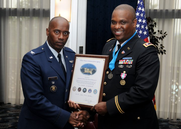 Upon retirement, I was awarded the Presidential Service Badge for my full-time service as military staff to the President of the United States under Presidents George W. Bush and Barack Obama.  #Leadership #VoteOtha #OthaforSupt #RestoringHope <br>http://pic.twitter.com/jVMpWOuwr3