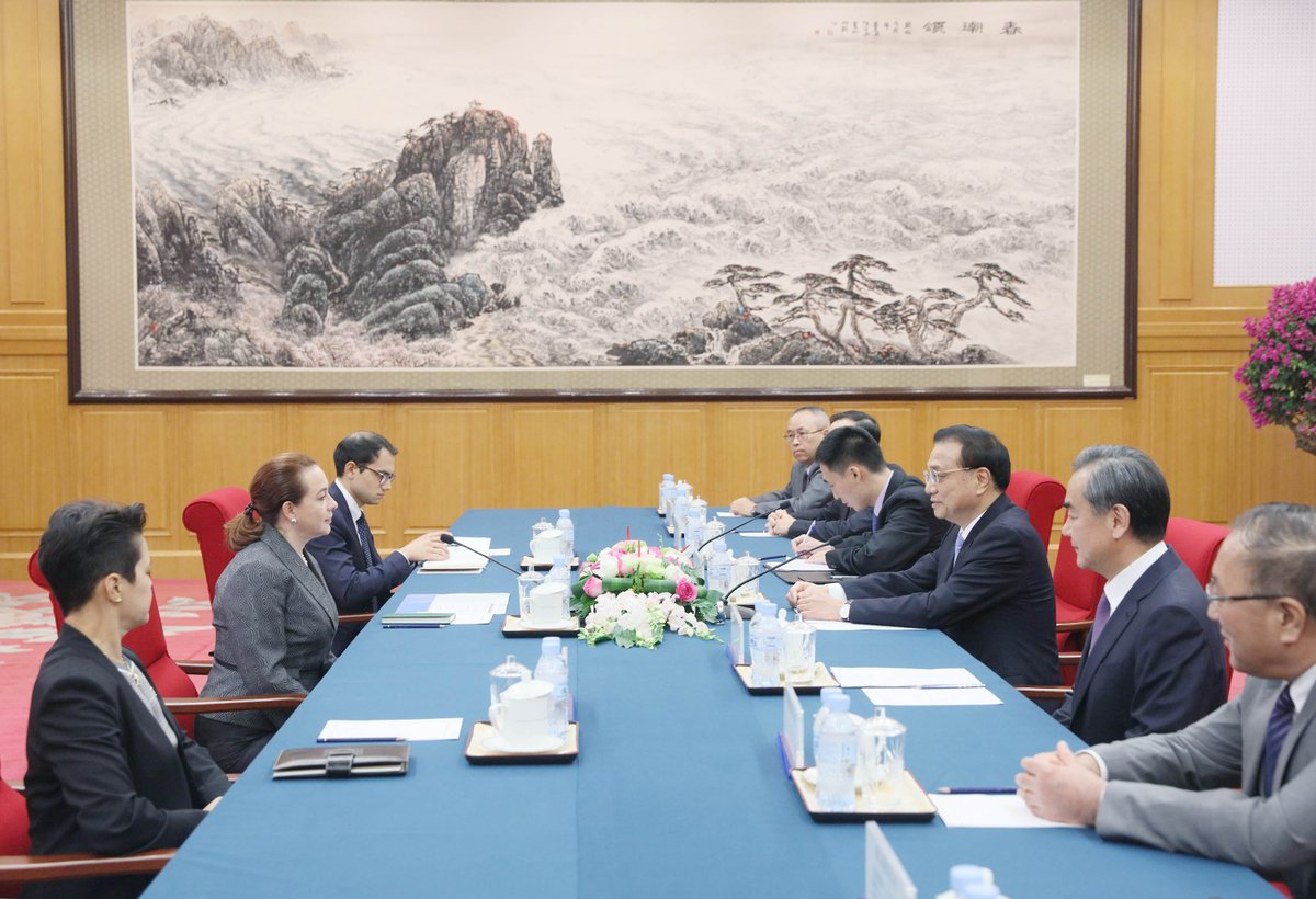 Chinese Premier Li Keqiang met with the president-elect of the 73rd session of the UN General Assembly, Maria Fernanda Espinosa Garces, Wednesday at Beidaihe, a seaside resort in north Chinas Hebei Province xhne.ws/kUR9r