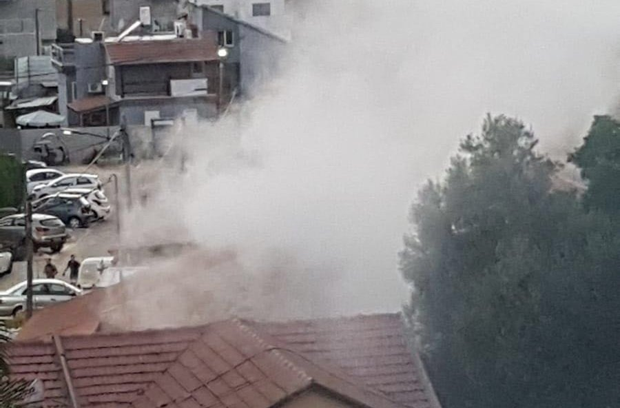 A rocket launched from Gaza has hit a house in the city of Sderot; One person injured