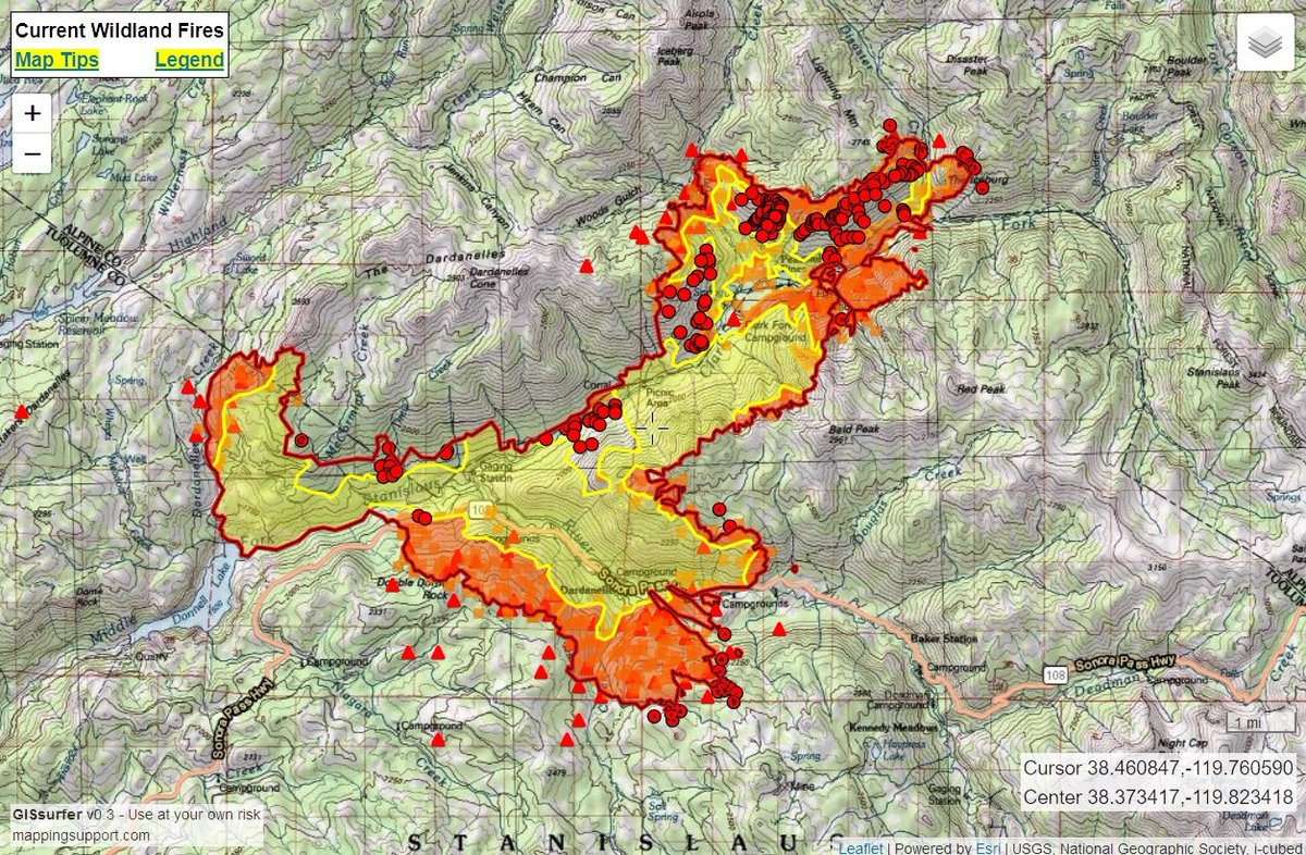 Donnells Fire Map.Joseph Elfelt On Twitter 8 8 Wednesday Donnellfire 17 684 Acres
