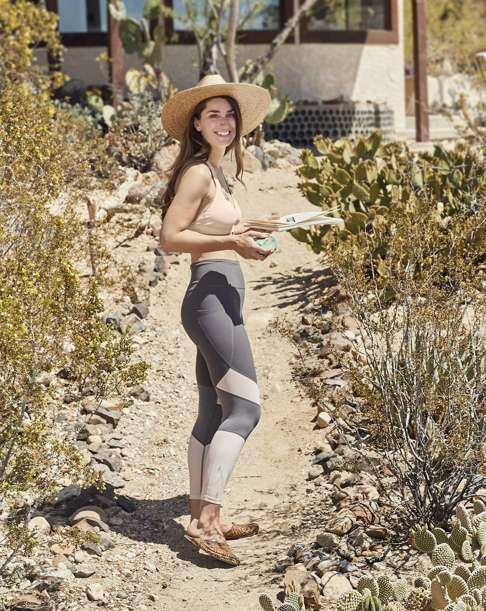 68afdabe6316a ... Joshua Tree, CA home. We're inspired by her creative spirit, mindful  lifestyle and gorgeous cactus garden. See her top 5 yoga pieces for fall:  ...