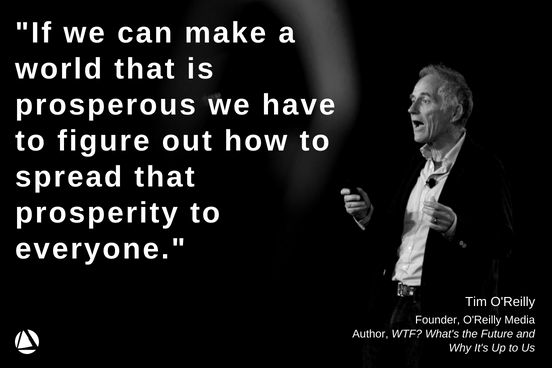 At #NPGoL, @timoreilly, Founder and CEO of @OReillyMedia and Author of &#39;WTF? What&#39;s the Future and Why It&#39;s Up to Us,&#39; gave a keynote address on the #FutureofWork and what we need to do to ensure it is an equitable one. Click here to watch the full keynote  https:// hubs.ly/H0dk0VK0  &nbsp;  <br>http://pic.twitter.com/ATZAWnfqyj