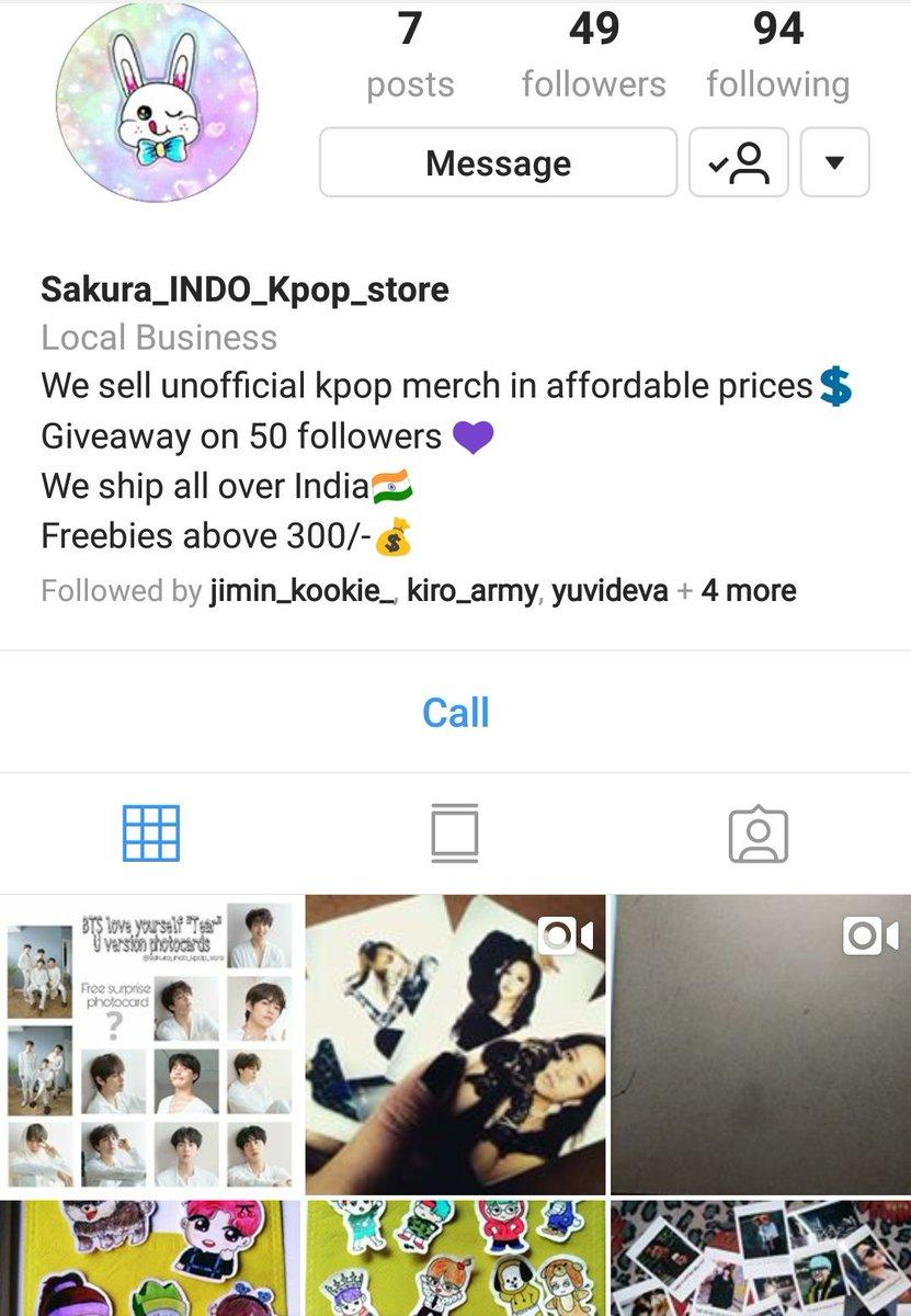 Sakura INDO K-pop Store 💜 (@Sakurakpopstore) | Twitter