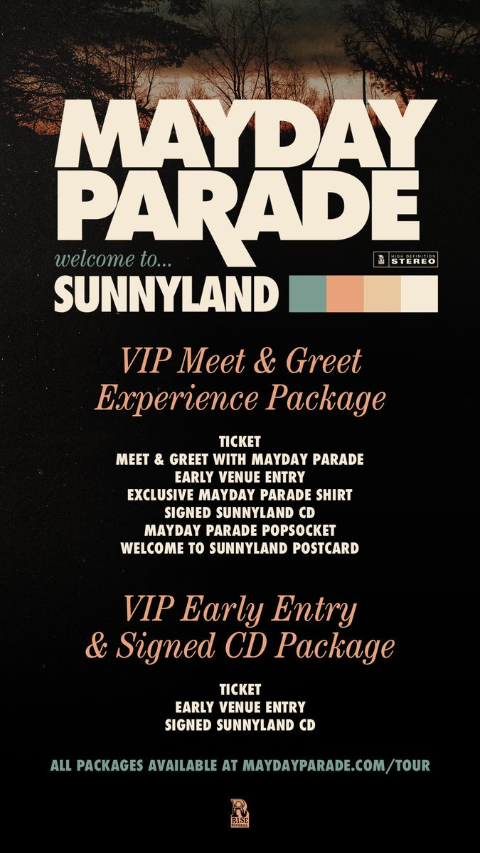 Mayday Parade On Twitter Welcome To Sunnyland Vip Tickets Are