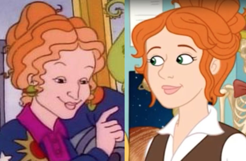 Which is the real Ms. Frizzle? Trying to prove a point. RT for left Fav for right