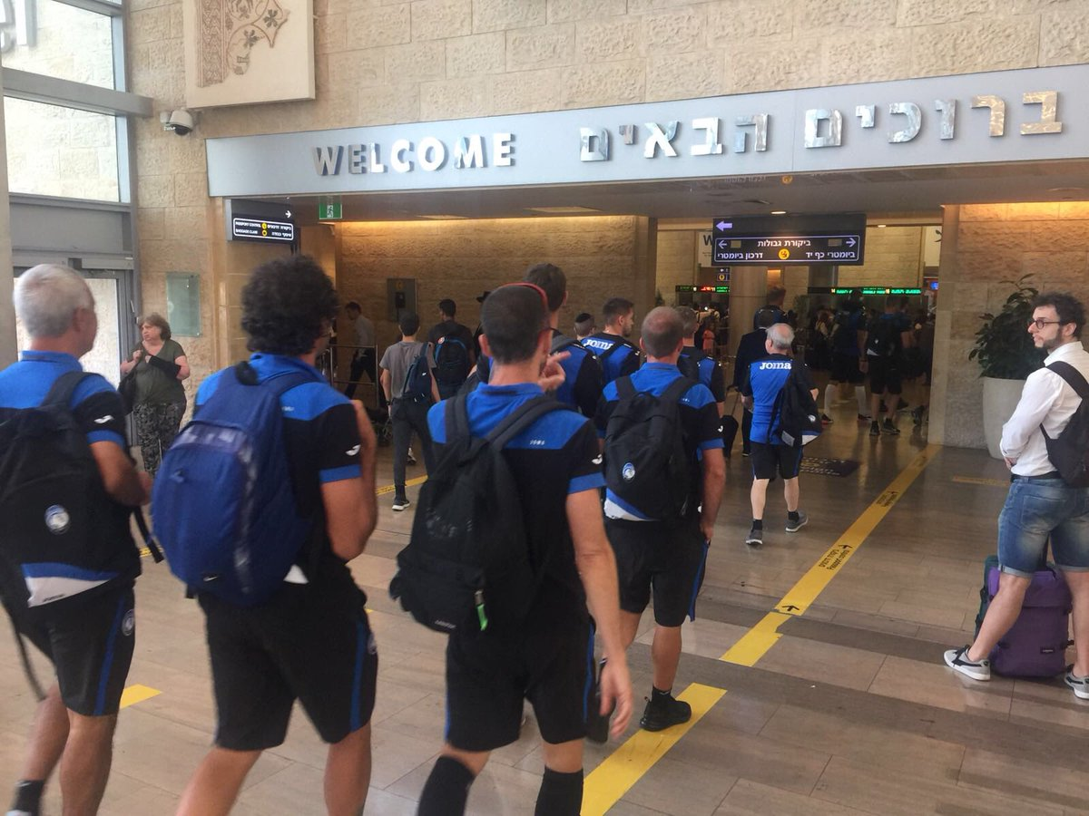 Landed! Ora la squadra si trasferirà ad #Haifa #EuAtalanta #GoAtalantaGo #HapoelAtalanta  - Ukustom