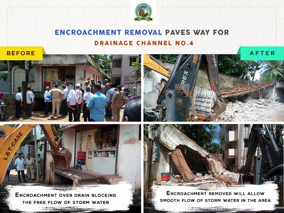 Bmc On Twitter This Is The Fate Of Encroachment Along Channel No4