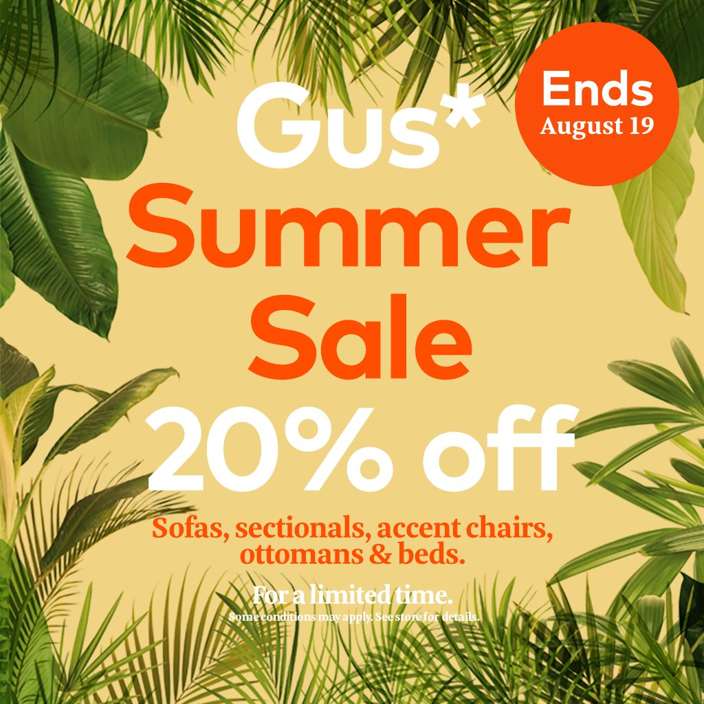 Save 20 on gus modern upholstery until aug 19th visit your local gus retailer today to see our designs in person http bit ly gusstores