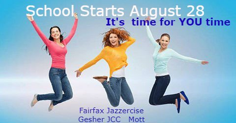 #fairfaxcountyschools, #backtoschool, #freetimeforme It's time for moms to enjoy kids in school time! #fitness @ffxjazzercise Get fit a 3 Fairfax locations: Gesher School, JCC, Mott Community Center.pic.twitter.com/SNg0Qx8Wlv