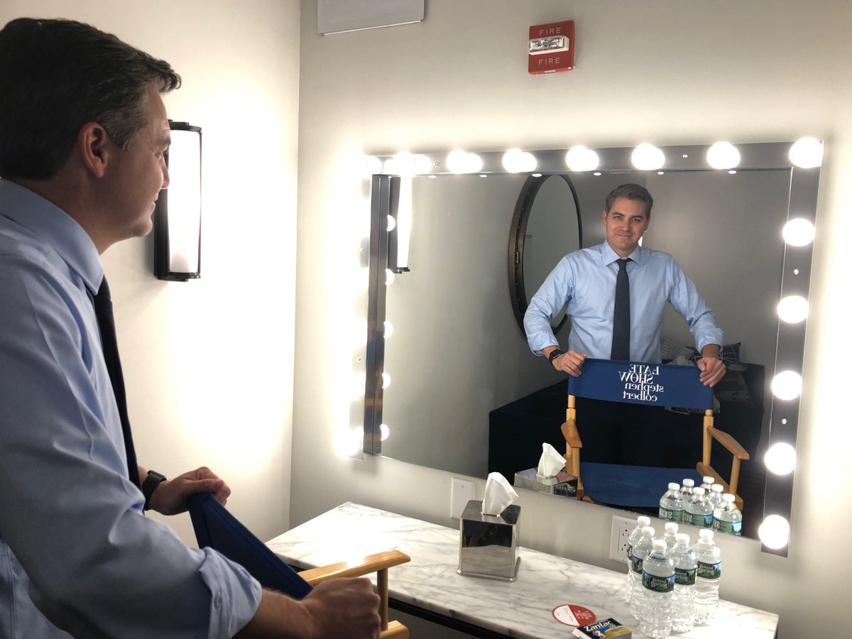 Getting ready to bring some #realnews to @colbertlateshow with @StephenAtHome #nottheenemy