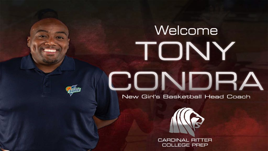 It&#39;s official.  We are excited to announce Tony Condra (@GameSoTrue) as our new head coach of Girl's Basketball!<br>http://pic.twitter.com/buVpt8pihU