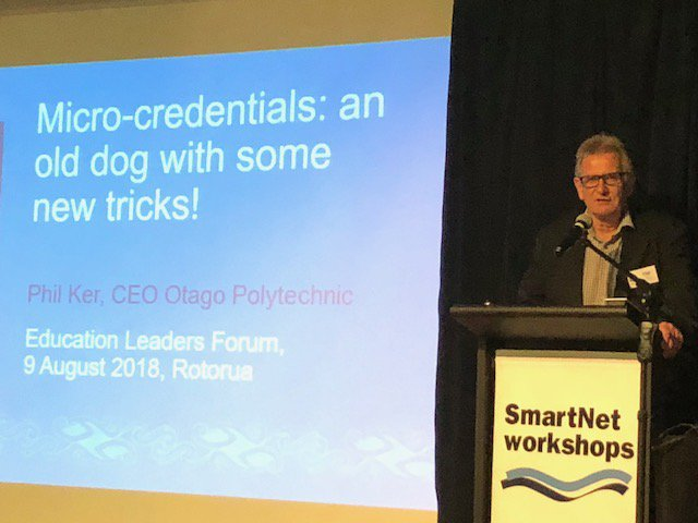 test Twitter Media - #ELF2018 Day 2 - Revaluating Education has kicked off with Phil Ker, CE, Otago Polytechnic Presenting: Micro-credentials: an old dog with some new tricks! https://t.co/pCLP1W7H2a