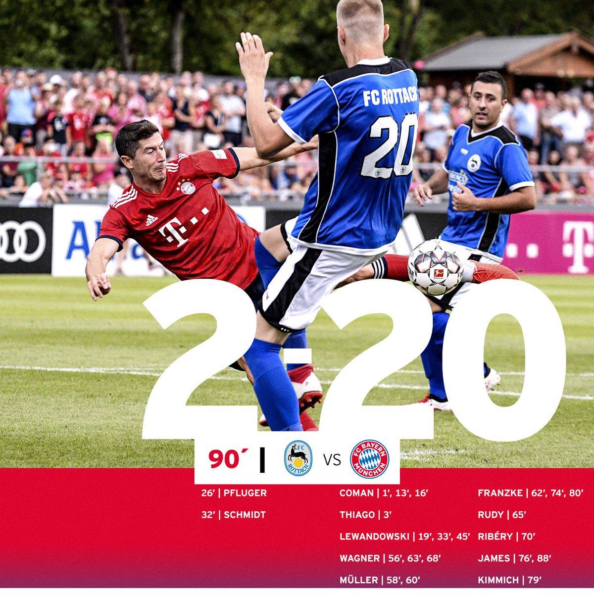 คลิปไฮไลท์ฟุตบอลกระชับมิตรปรีซีซั่น โรตทาค 2-20 บาเยิร์น มิวนิค Rottach 2-20 Bayern Munich