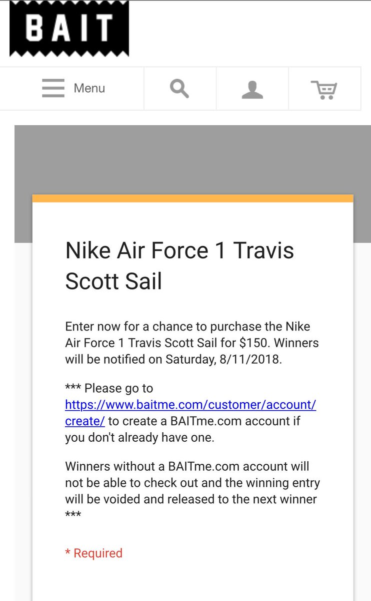 snkr twitr on twitter travis scott x af1 sail online raffle open