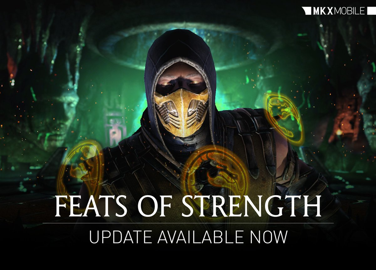 Feats of Strength is here! Download the #MKXMobile update now and experience the new feature! go.wbgames.com/PlayMKXMobile