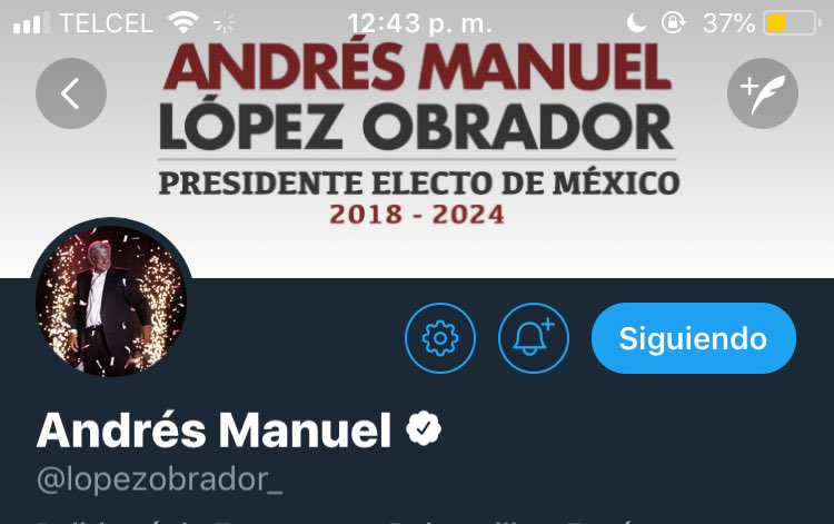 Su twitter header   *proud tears all over my face* @lopezobrador_ #PresidenteElecto <br>http://pic.twitter.com/anQ7FxjJXl