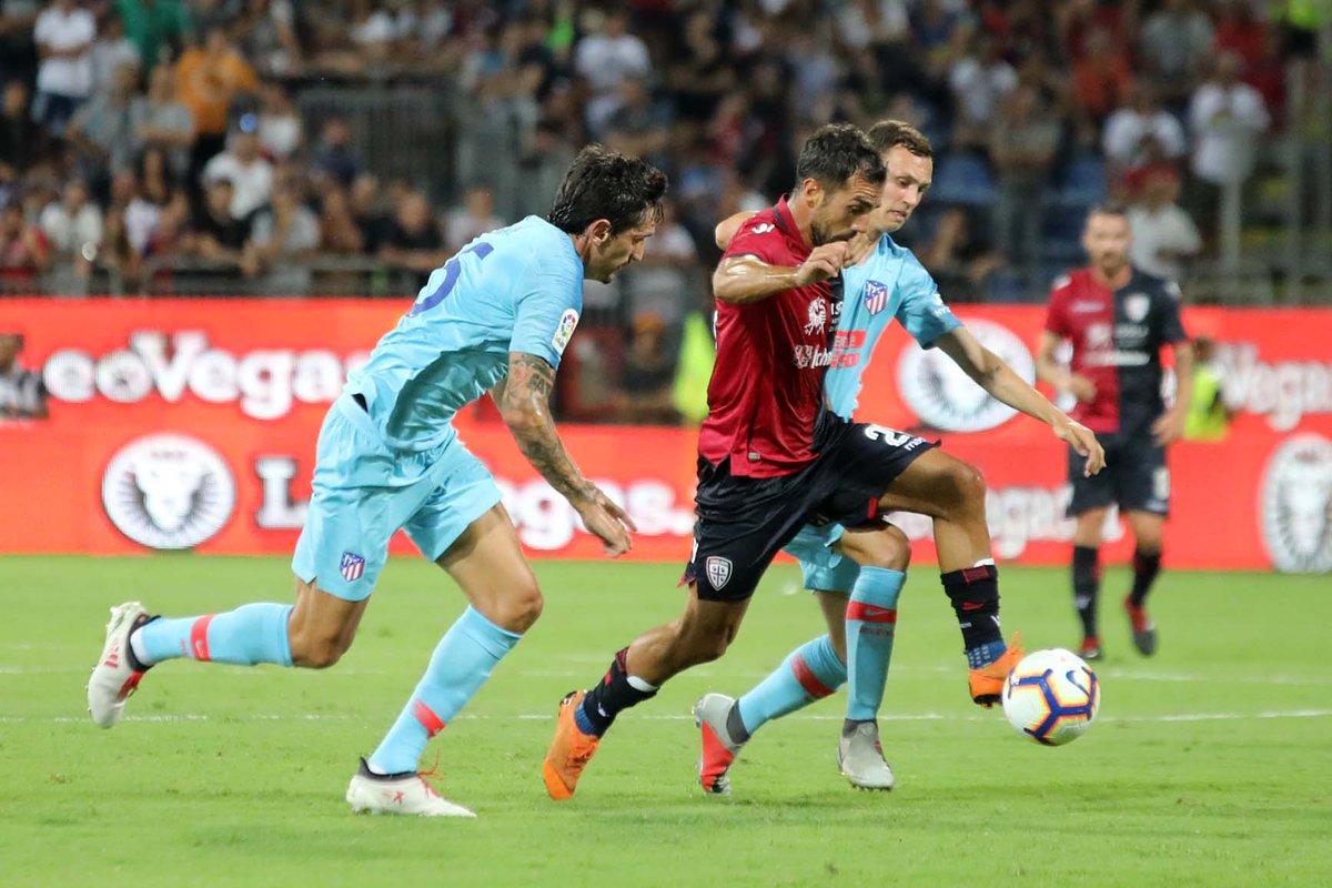 È stata una bellissima serata di calcio!  Grazie @Atleti, è stato un piacere averti alla @SardegnaArena!  #CagliariAtleti  - Ukustom