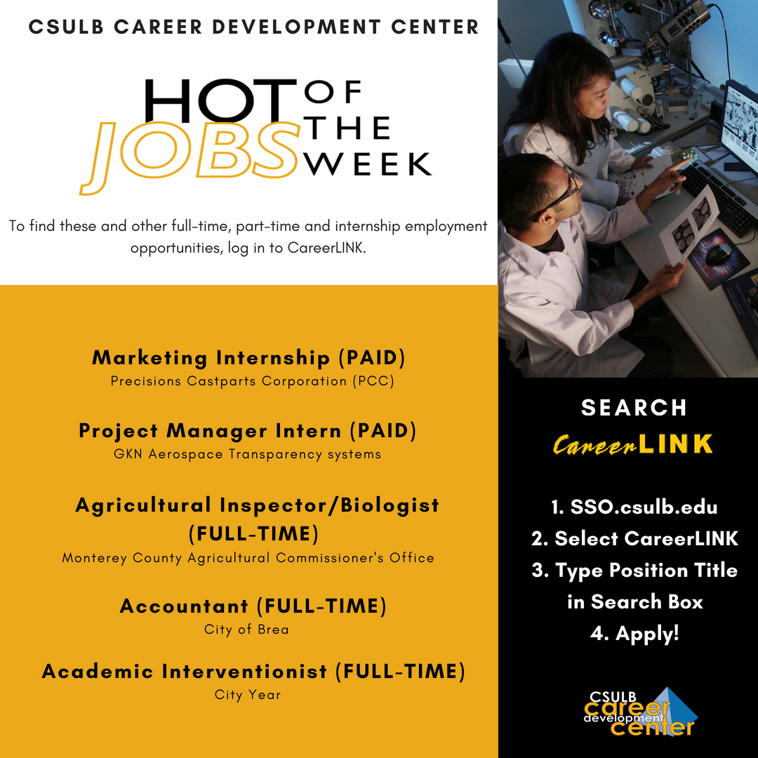 csulbcareercenter on twitter here are just a few featured jobs