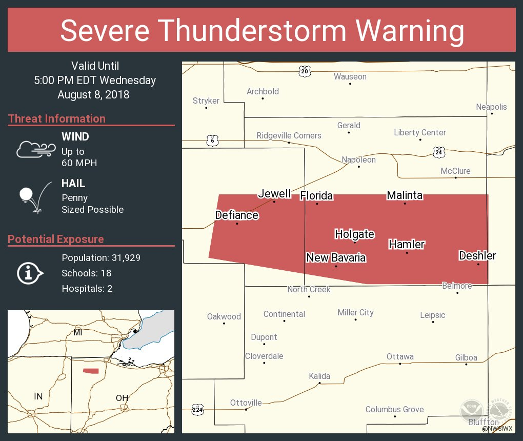 Deshler Ohio Map.Nws Northern Indiana On Twitter Severe Thunderstorm Warning