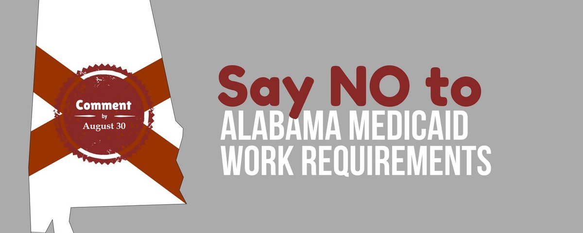 Alabama #Medicaid has gotten at least 280 emails opposing its catch-22 plan to take coverage away from thousands of parents in deep poverty, after just 1 week of public comments. Keep up the pressure! Click here to make your voice heard:  https:// actionnetwork.org/letters/act-no w-protect-medicaid-for-thousands-of-alabama-parents?source=TW8818 &nbsp; …  #alpolitics <br>http://pic.twitter.com/ngKkjPin7M