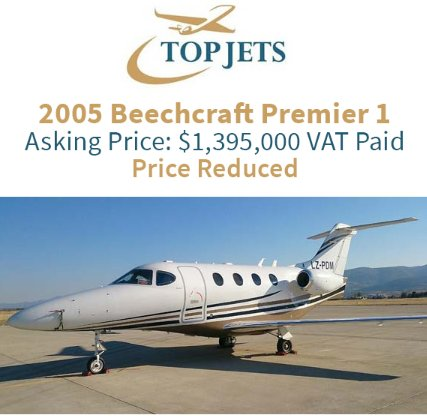 2005 #Beechcraft #Premier1 available now through Top Jets w/12 months Free AOC Management and 4 pilots EU VAT paid Lowest priced Premier 1 in Europe! Get in touch with them at  http:// ow.ly/JGLa30lkfSy  &nbsp;    #bizjet #bizav #aircraftforsale #privateaviation #jetforsale <br>http://pic.twitter.com/tT64u1aGHM