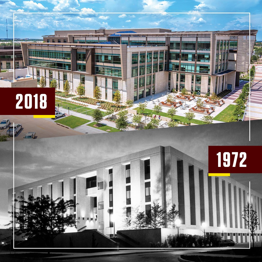 The new Zachry Engineering Education Complex expands the original Zachry Engineering Center's footprint by more than 200,000 square feet. For more information about the building, visit  http:// tx.ag/ZachryFacts  &nbsp;  . #FactsAboutZACH #FactFriday #TAMUEngr #TAMU<br>http://pic.twitter.com/3q7iYXH4Q5