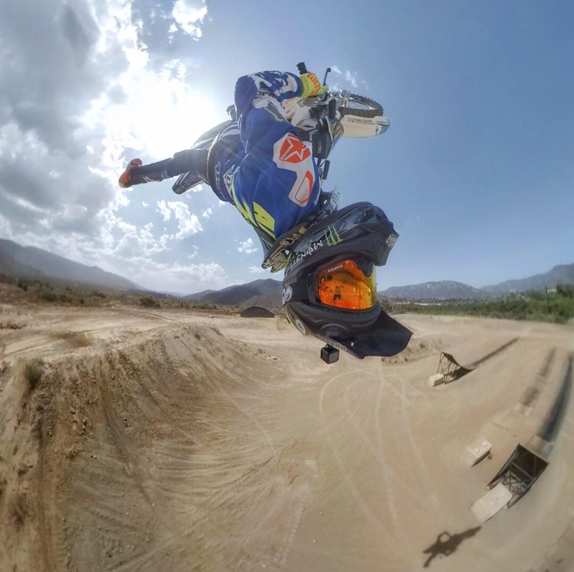 Where do you mount your #GoProFusion? 🏍   @NateAdams741 #GoProMoto