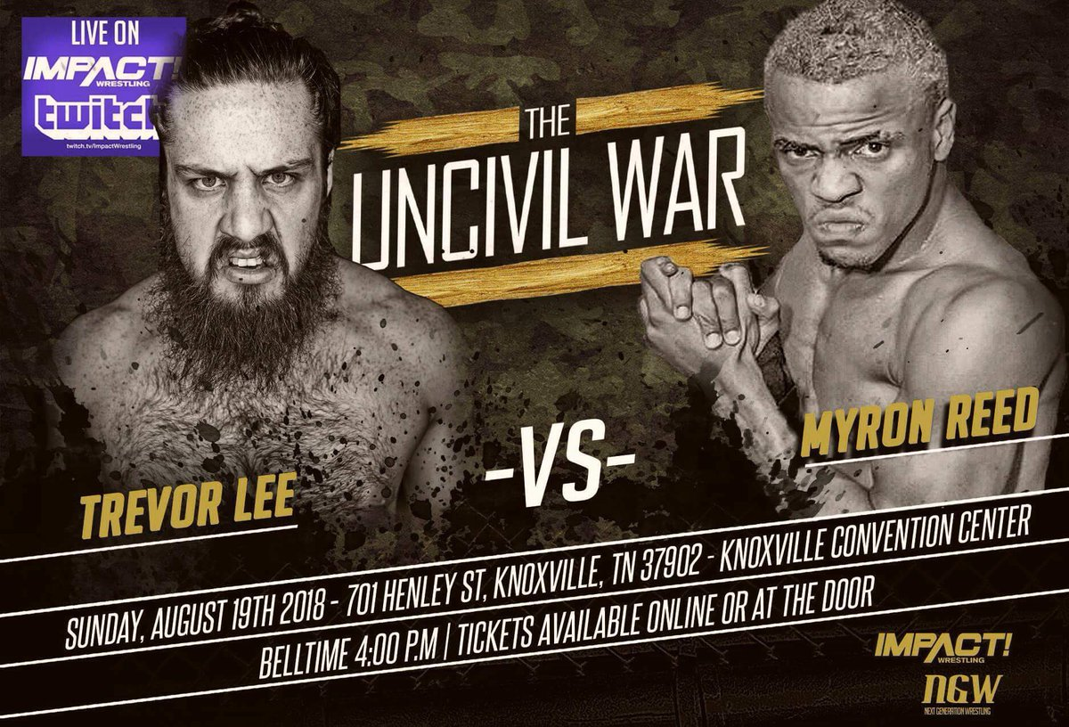 @TLee910 vs @TheBadReed The Uncivil War! August 19th at the Knoxville Convention Center in Knoxville, Tennessee! Also on @Twitch Tix: brownpapertickets.com/event/3520668 VIP: SOLD OUT General Admission: $15 (Online or at the door.) Kids General Admission: $10 at the door.