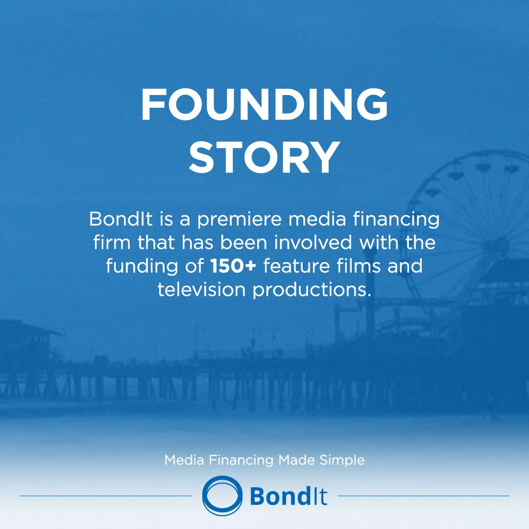 BondIt - Film Financial Services.  #filmmaking #productioncompany #BondIt #producer #entrepreneur #media #FinancialServices #FilmFinancing<br>http://pic.twitter.com/rfsRTNftg9