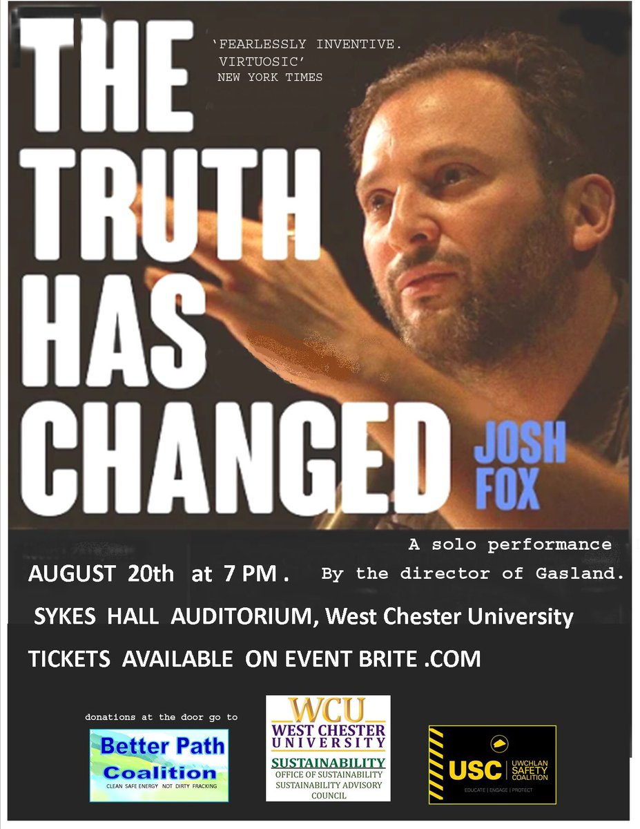 Join us on 8/20 at @WCUofPA with @joshfoxfilm! Register for tickets here: eventbrite.com/e/the-truth-ha…