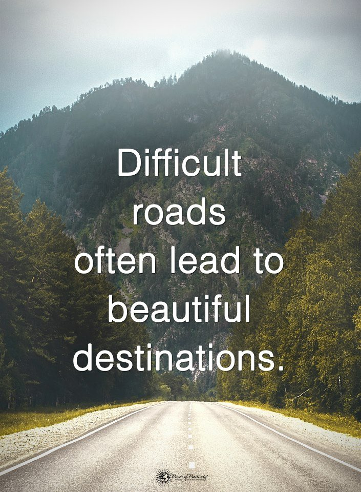 life is difficult road less traveled