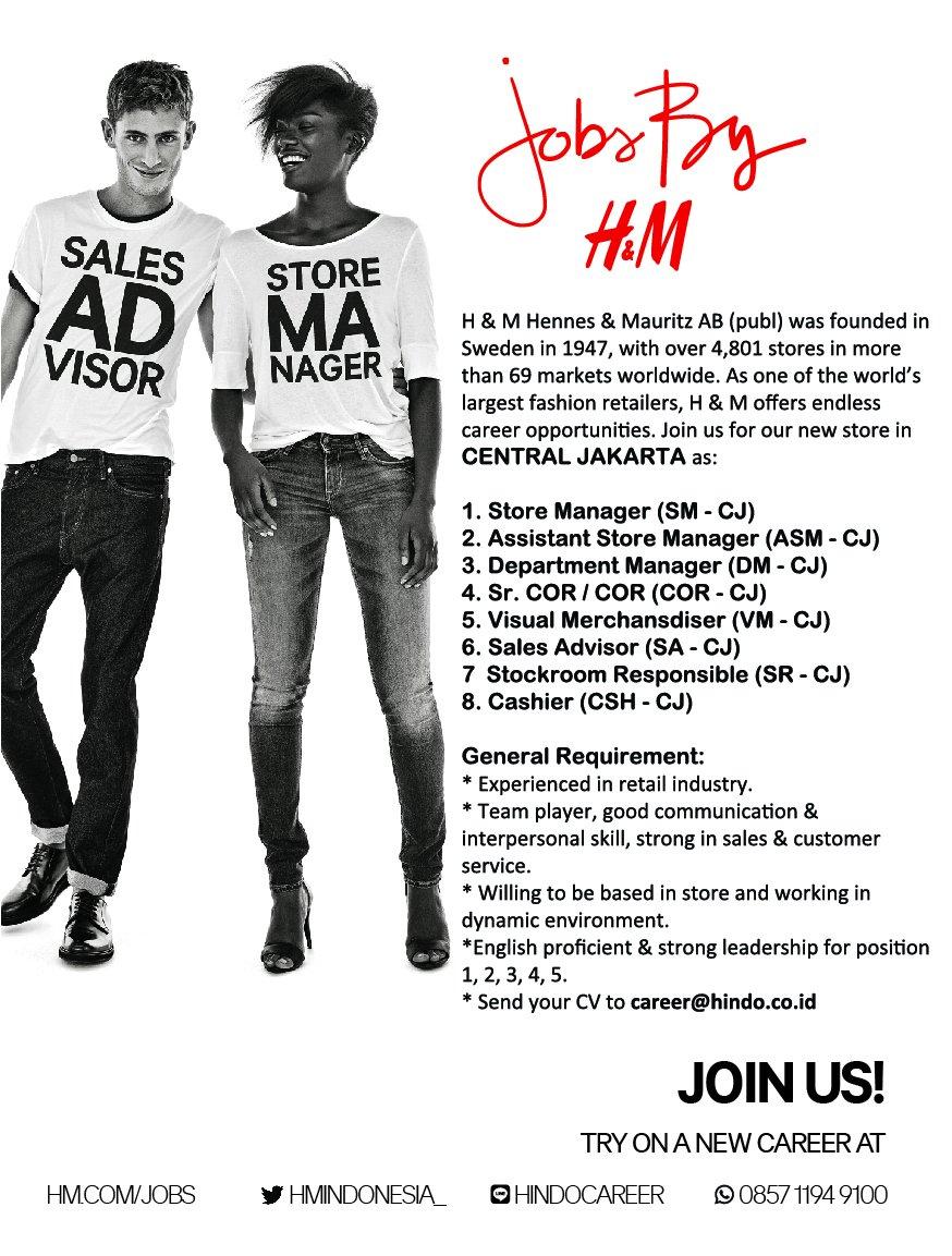 H&m Sales Advisor Job Role ✓ Labzada T Shirt