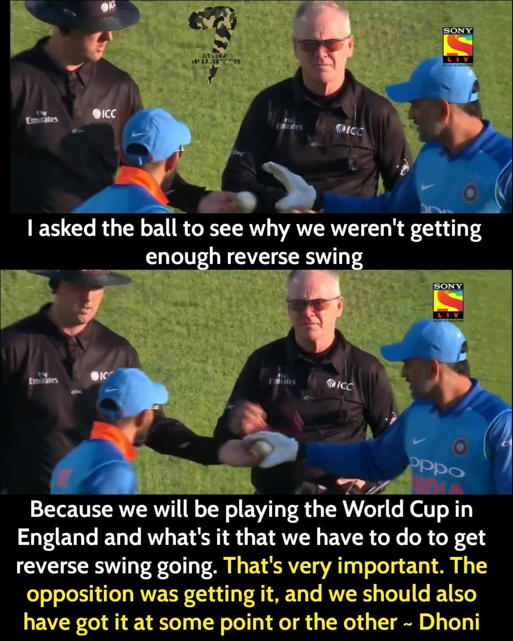 The Reason why MS Dhoni took the ball