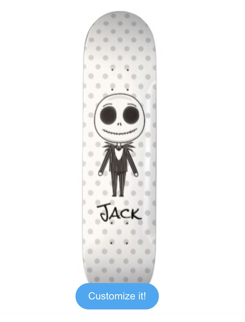 nightmare before christmas jack emoji skateboard deck