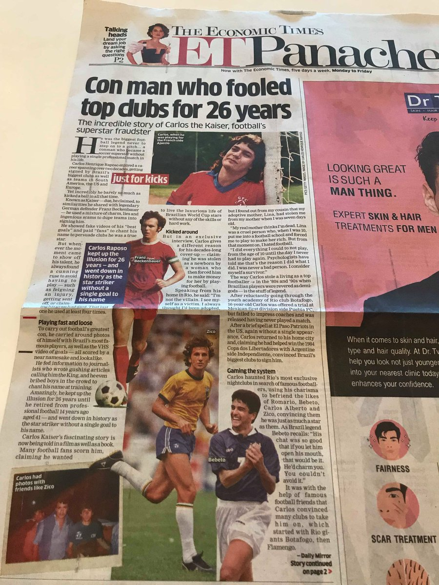 Nice spread in the @EconomicTimes In India yesterday.