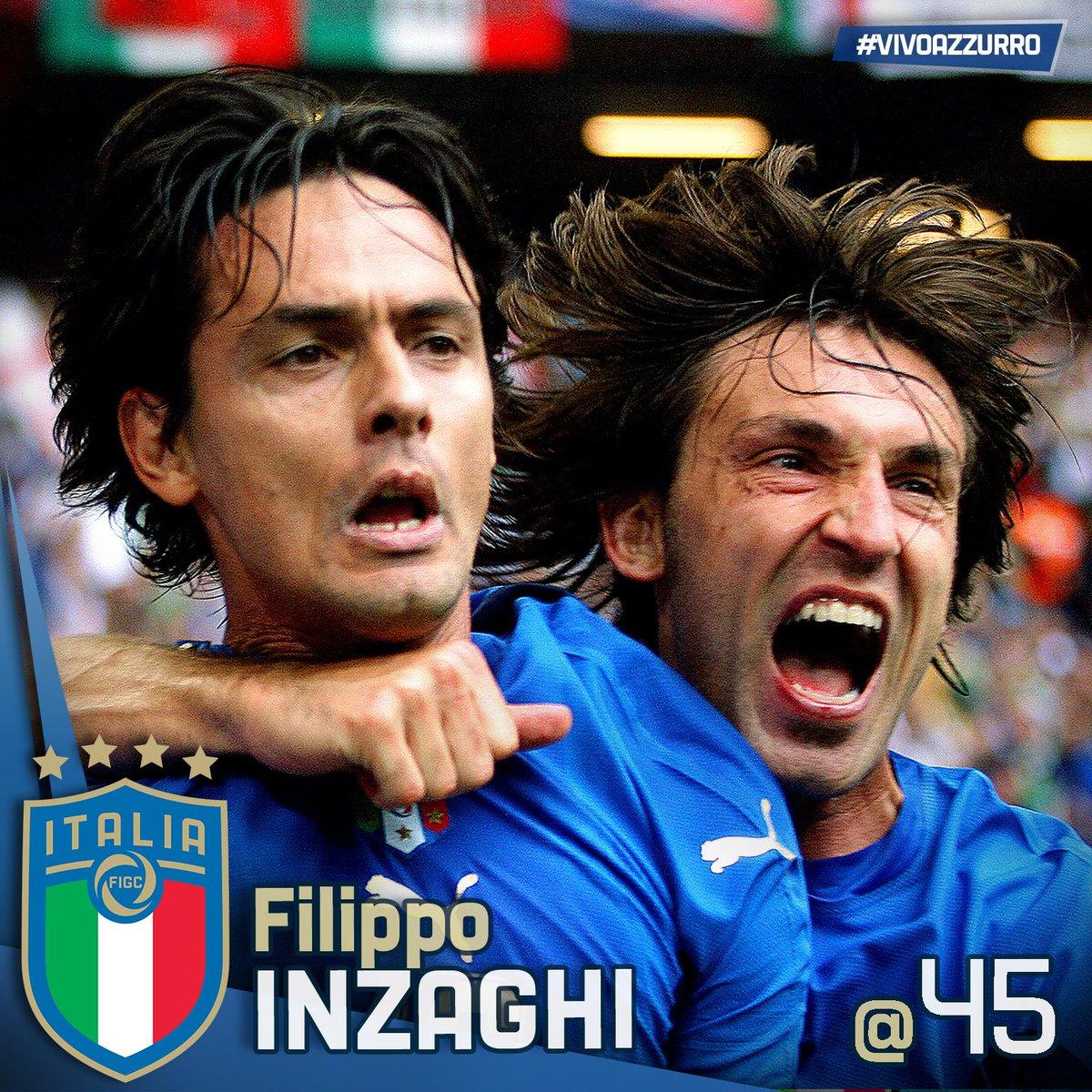 Buon compleanno a Filippo #Inzaghi! 57 presenze in #Nazionale 25 #gol #Mondiale #Germania2006 #Europeo #Under21 #Piacenza, #9agosto 1973L\