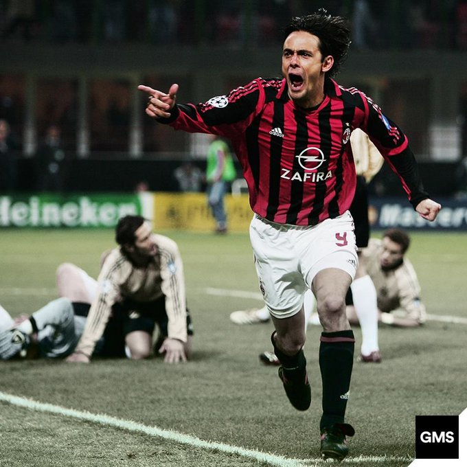 Happy Birthday Filippo Inzaghi! Two time UEFA Champions League winner and FIFA World Cup winner. A true poacher!