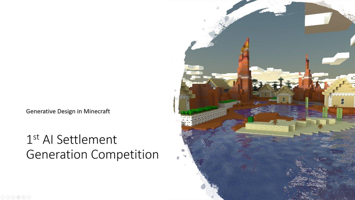 Generative Design in Minecraft Competition (GDMC) (@GenDesignMC